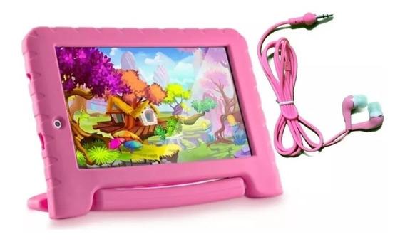 Tablet Multilaser Kid Pad Plus Rosa Android 7 Wifi 8gb Nb279 + Fone (brinde)