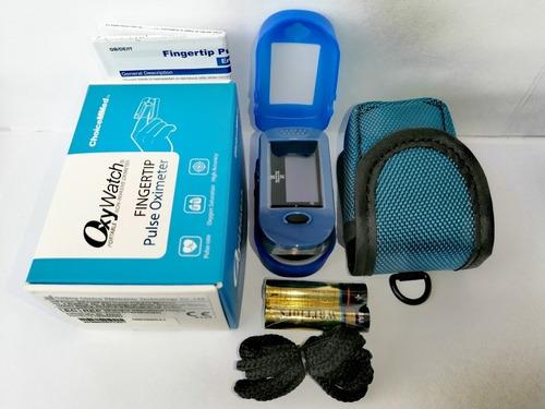 Oximetro De Pulso Con Curva Choicemmed  Azul