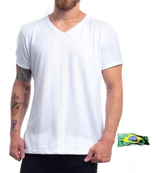 Kit 20 Camisetas 100% Poliéster Gola V Ideal Sublimação Atac