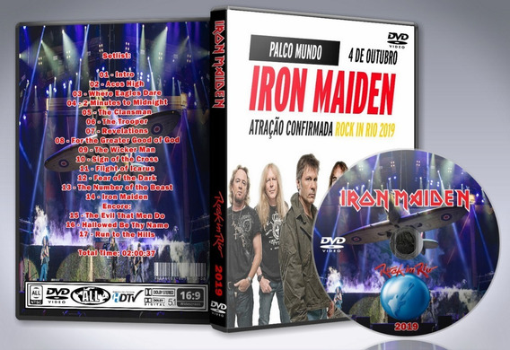 Dvd Iron Maiden - Rock In Rio Festival 2019 Br