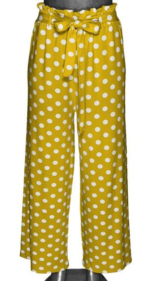 Pantalón Con Moño, Holgado, Puntos, Con Resorte, Unitalla