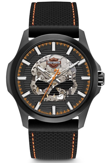 Reloj Harley Davidson Skeleton Calavera Automatico 78a118