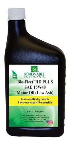 Imagen 1 de 1 de Renewable Lubricants 85801 Bio Fleet Hd Plus Sae 15w40 Low A