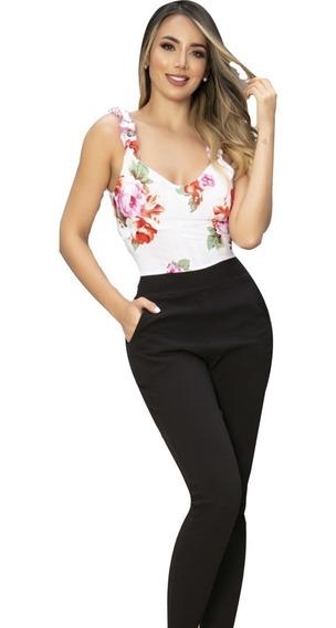 Enterizos Elegantes En Pantalon Y Blusa Mujer Mercadolibre Com Co