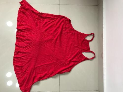 Remera Musculosa De Mujer Lisa Roja