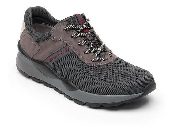 Sneaker Moderno Deportivo Flexi Hombre 403701 Gris