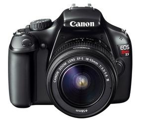 Câmera Canon Eos Rebel T3 +2 Lentes + Cartão De Memória 16gb