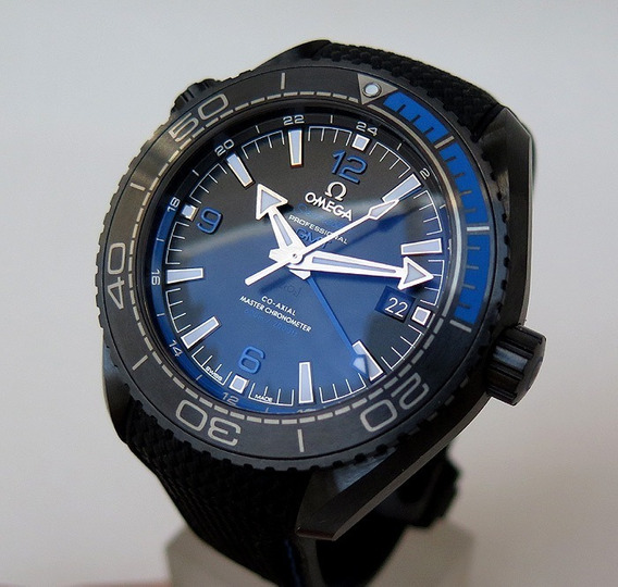 Relógio Omega Planet Ocean Gmt Ceramic Deep Black&blue 600mm