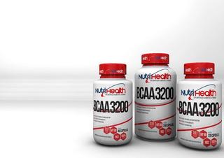 5 X Bcaa Nutri Health 3200 60 Cápsulas A Pronta Entrega