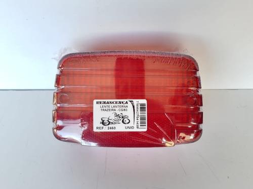 Lente Lanterna Cg 125 1983/88 Vermelha Renascença