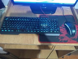 Teclado Centaur Red Dragón (poco Uso) Y Mouse Memeanlion Red