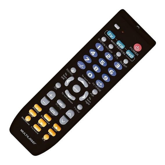 Controle Remoto Universal Multilaser Ac088 Para Tv Dvd E Vcd
