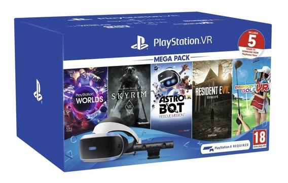 Playstation Vr Mega Pack Ps4 Skyrim Re7 Golf Astrobot World