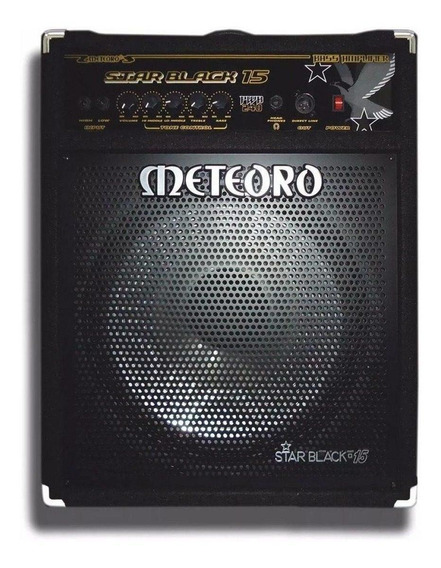Amplificador Meteoro Star Black 15 240W transistor preto 110V/220V