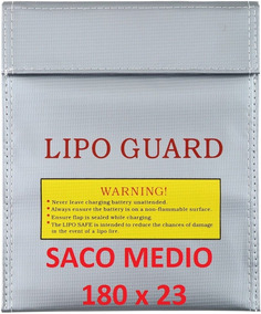 Saco Anti Chama P/ Bateria Lipo - Safe Bag 18x23 Medio