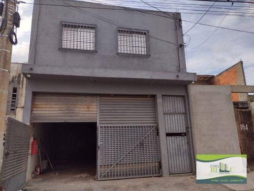 Imagem 1 de 5 de Salão Para Alugar, 126 M² Por R$ 2.300,00/mês - Jardim Santo Antonio - Franco Da Rocha/sp - Sl0043