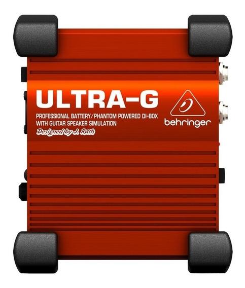 Direct Box Ativo Behringer Ultra-g Gi100 P/ Guitarra - Novo