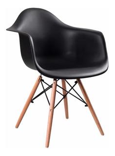 Silla Eames Con Brazo (blanco/negro)