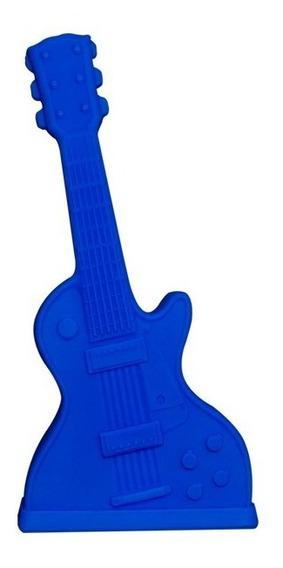 Luminária Guitarra Azul Rock Divertida De Mesa Bivolt Abajur