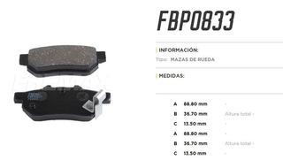 Juego Pastillas De Freno Fremax Trasera Honda Civic Fit 084*