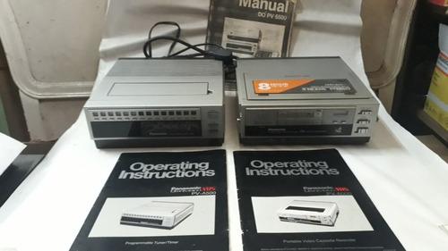Panasonic Omnivision Vhs Pv-6000 +  Pv-a500 + Acessórios
