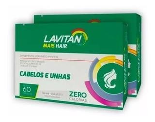 Lavitan Mais Hair Vitamina Para Cabelo Kit 5 Caixa C/60 Comprimidos