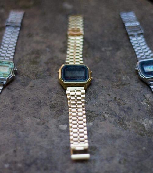 Relógio Casio Unissex Retrô Vintage Dourado/cinza/prata/rose