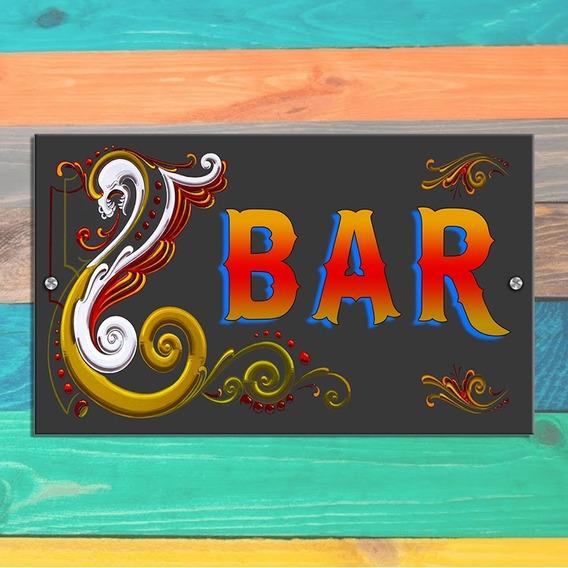 Cartel Retro Vintage Filete Bar - 25 X 15 Cm