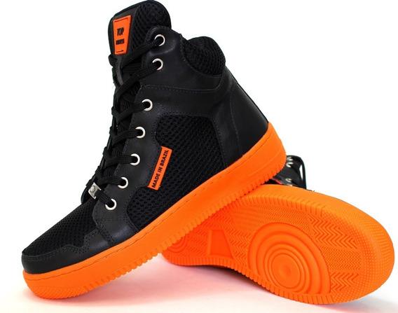 Bota Tenis Botinhas Top Fitness Sneakers Mascul Femin Couro