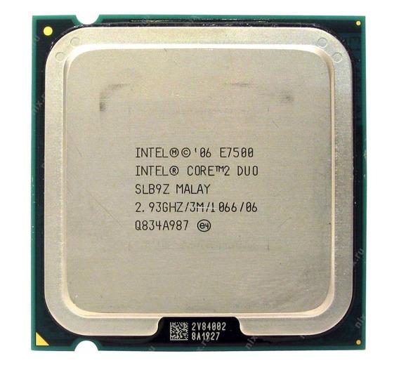 Kit 2x Processadores Intel Core 2 Duo E7500 2.93ghz Lga 775
