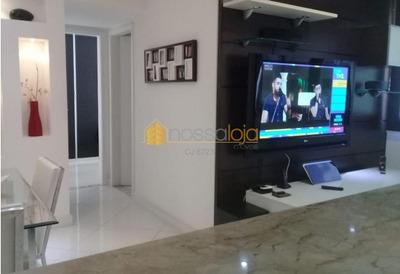 Quinta Das Palmeiras, Lindo Apartamento, Finamente Decorado, Mobiliado, Sala, 2 Quartos, Banho, Cozinha, Área, Vaga, Play Clube. - Ap5076