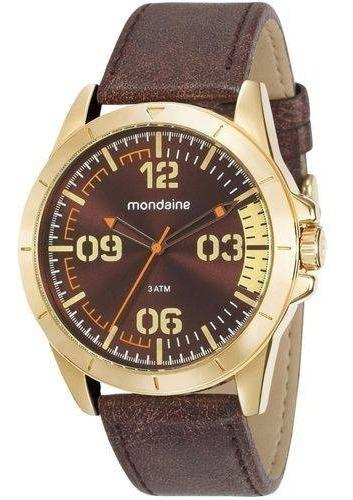 Relógio Masculino Mondaine Pulseira Couro 76702gpmvdh1