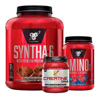 Syntha 6 5 Lb Bsn + Amino X 2 Lb + Creatina 309gr