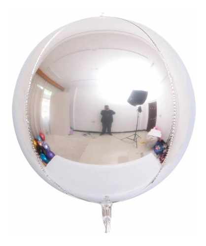 Globo 4d Orbz Esférico Esfera Redondo Burbuja Metalizado
