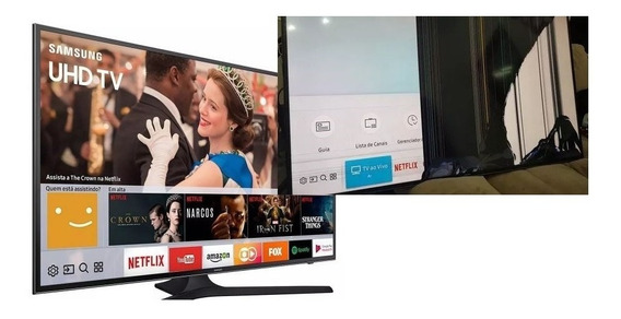 Tv Led Samsung 65 4k Uhd Un65mu6100g (tela Quebrada)