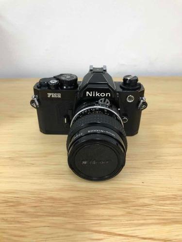 Camera Nikon Fm2 + Lente Ais 55mm Micro/nikkor F/2.8