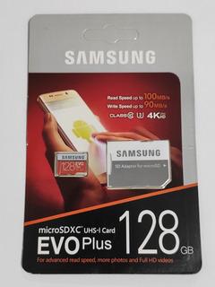 Cartão De Memória 128gb - Evo Plus 100mb/s 4k - Classe 10