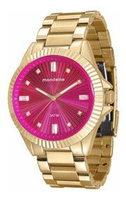 Relógio Mondaine Feminino Glamour 76613lpmvde1 Rosa Gold