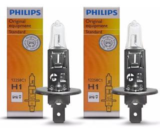 Par Lâmpada H1 12v 55w Original Philips - Uno Punto Bravo