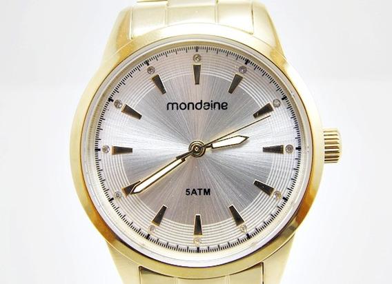 Relógio Folheado A Ouro , Detalhe Em Zirconias - Mondaine