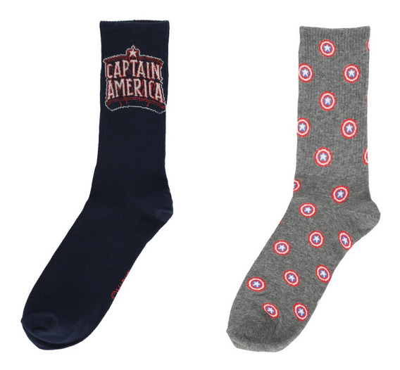 2 Pack Calcetines Capitán América De Hombre C&a 1054938