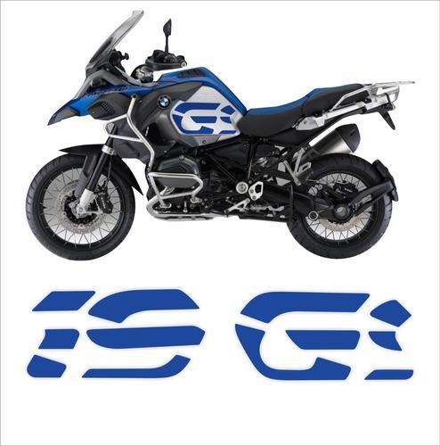 Imagem 1 de 3 de Par Adesivos Emblemas Laterais Bmw R1200 Gs Adventure Azul