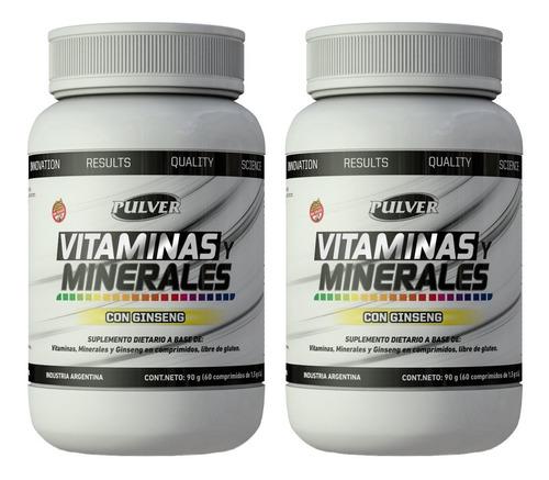 Imagen 1 de 2 de 2 Vitaminas Y Minerales C/ Ginsengpulver Sin Tacc 60 Tab2