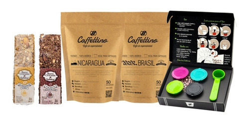 Imagen 1 de 7 de Kit Tentanción Nespresso Centroamérica - Capsulas Caffettino