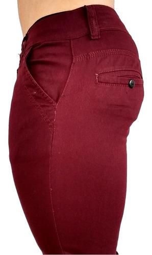 Pantalon Casual Gabardina Skinny Stretch Vestir Hombre Moda Mercado Libre
