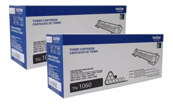 Kit C/ 2 Toner Brother Tn-1060 | Dcp-1602 Dcp-1512 Dcp-1617n