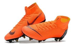 Chuteira Nike Mercurial Superfy 6 Elite 360 Sg Orange Origi: