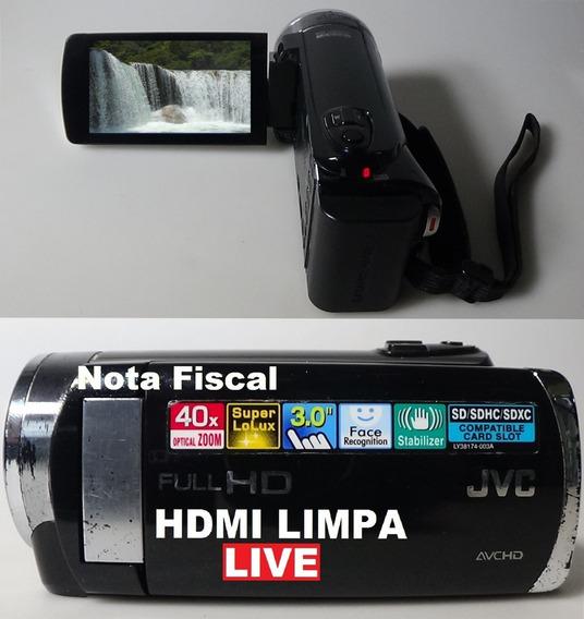 Filmadora Jvc Gz-e200 Full Hd Hdmi Limpa Para Live
