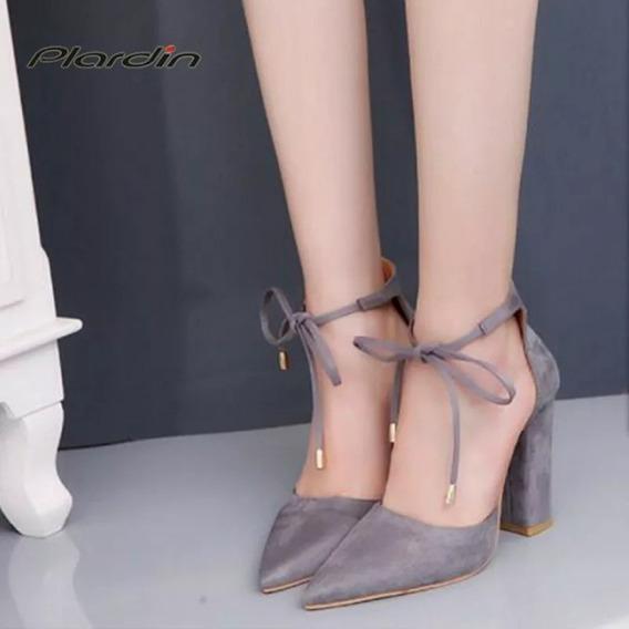 Sandália Scarpin Com Amarração Importada Ref2231