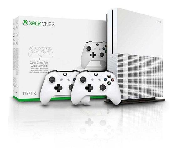 Xbox One S Slim 1 Tb C\ 2 Controles Mod Novo - Pode Retirar